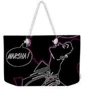 Clark Gable Cartoon Poster Neon Weekender Tote Bag