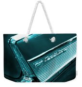 Classic '57 Teal And Chrome Weekender Tote Bag