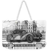 Classic Auto With Chateau Weekender Tote Bag