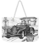 Classic Auto With Formal Gardens Weekender Tote Bag