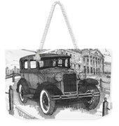 Classic Auto With Mills Mansion Weekender Tote Bag