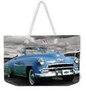 Classic Blue Chevy Weekender Tote Bag