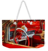 Classic Cadillac Beauty In Red Weekender Tote Bag