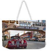 Classic Cannery Row - Monterey California With A Vintage Red Car. Weekender Tote Bag