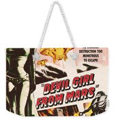 Classic Devil Girl From Mars Poster Weekender Tote Bag