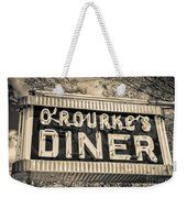 Classic Diner Neon Sign Middletown Connecticut Weekender Tote Bag