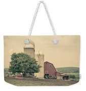Classic Farm With Red Barn And Silos Weekender Tote Bag