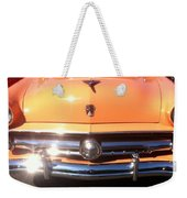 Classic Ford Car Hood Peach Weekender Tote Bag