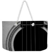Classic Guitar In Black And White Weekender Tote Bag