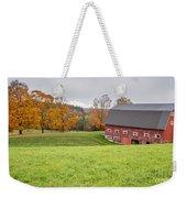 Classic New England Fall Farm Scene Weekender Tote Bag