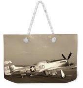Classic P-51 Mustang Fighter Plane Weekender Tote Bag