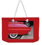 Classic Red And Black Weekender Tote Bag