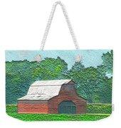 Classic Red Barn Weekender Tote Bag