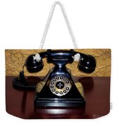 Classic Rotary Dial Telephone Weekender Tote Bag