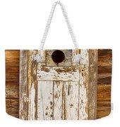 Classic Rustic Rural Worn Old Barn Door Weekender Tote Bag
