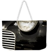 Classic Vintage Car Black And White Weekender Tote Bag