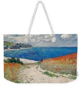 Claude Monet's Path In The Wheat Fields At Pourville-1882 Weekender Tote Bag