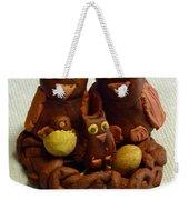 Clay Owl Family Weekender Tote Bag