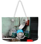 Clean Pots And Pans On Outdoor Sink Weekender Tote Bag