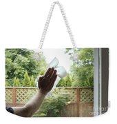 Cleaning A Window Weekender Tote Bag