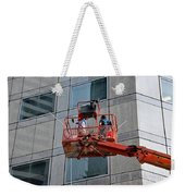Cleaning Skyscraper Window And Wall With Snorkel Singapore Weekender Tote Bag