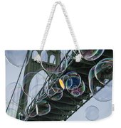Cleaning The Bridge With Bubbles Weekender Tote Bag