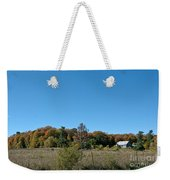 Clear Autumn Country Sky Weekender Tote Bag