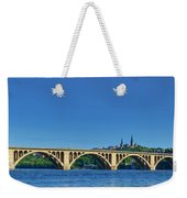 Clear Blue Skies At Key Bridge Weekender Tote Bag