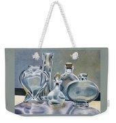 Clear Glass Bottles Weekender Tote Bag