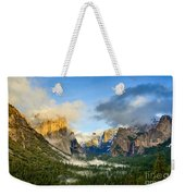 Clearing Storm - Yosemite National Park From Tunnel View. Weekender Tote Bag