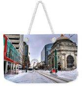 Clearing The Way...downtown Buffalo Ny 2014 Weekender Tote Bag