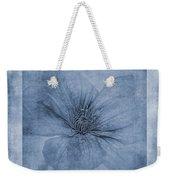Clematis Cyanotype Weekender Tote Bag