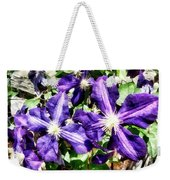 Clematis On A Stone Wall Weekender Tote Bag