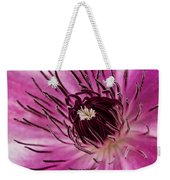 Clematis Up Close Weekender Tote Bag