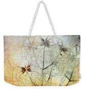 Clematis Virginiana Seed Head Textures Weekender Tote Bag