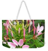 Cleome Named Cherry Queen Weekender Tote Bag