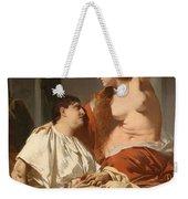 Cleopatra And Antony Weekender Tote Bag