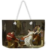 Cleopatra And Octavian Weekender Tote Bag