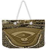 Cleveland Baseball In Sepia Weekender Tote Bag