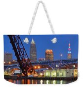 Cleveland Blue Hour Panoramic Weekender Tote Bag