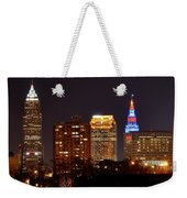 Cleveland Cityscape Weekender Tote Bag