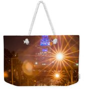 Cleveland Downtown Street View At Night Weekender Tote Bag