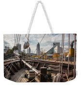 Cleveland From The Deck Of The Peacemaker Weekender Tote Bag by Dale Kincaid