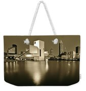 Cleveland In Sepia Weekender Tote Bag