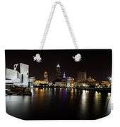 Cleveland Lakefront Nightscape Weekender Tote Bag