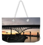 Cleveland Ohio Flats At Sunset Weekender Tote Bag