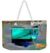 Cleveland Ohio Map Watercolor Weekender Tote Bag