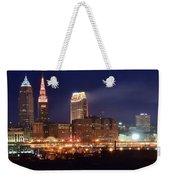 Cleveland Panoramic Night Weekender Tote Bag