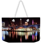 Cleveland Panoramic Reflection Weekender Tote Bag