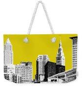 Cleveland Skyline 3 - Mustard Weekender Tote Bag